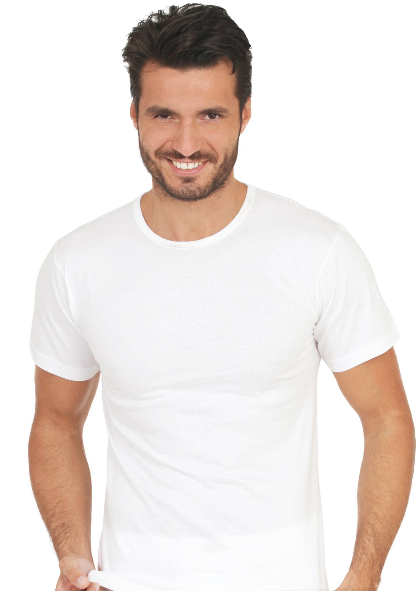 T Shirt Manica Corta Girocollo In Cotone Jersey