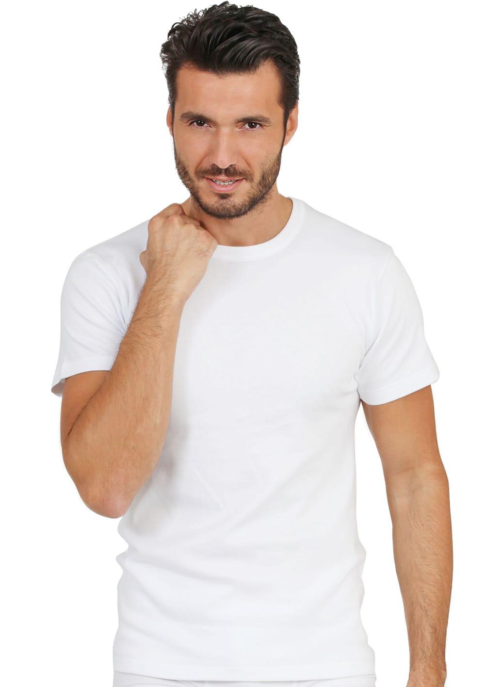 T Shirt Manica Corta Girocollo In Cotone Interlock Felpato