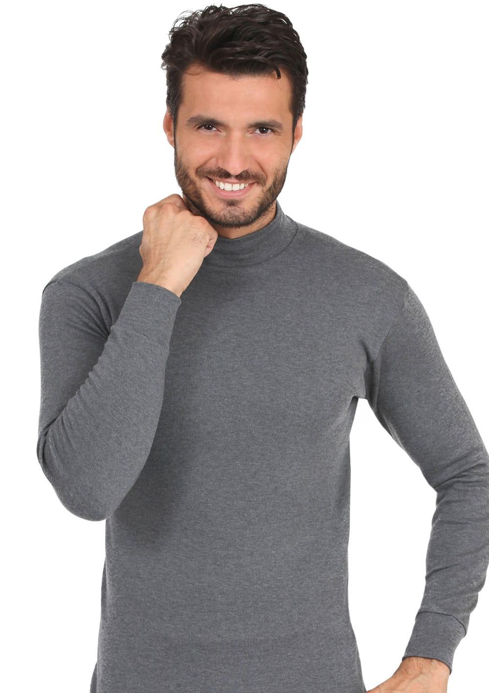 T Shirt Manica Lunga Lupetto In Cotone Interlock Felpato